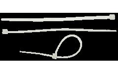 Стяжки пластиковые кабельные нейлоновые БЕЛЫЕ 3,5 х 150 мм, упаковка 100 шт.,